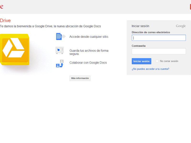 iniciar sesion en google drive